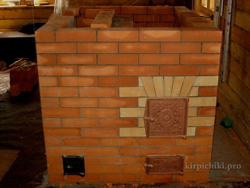 печь-камин схема