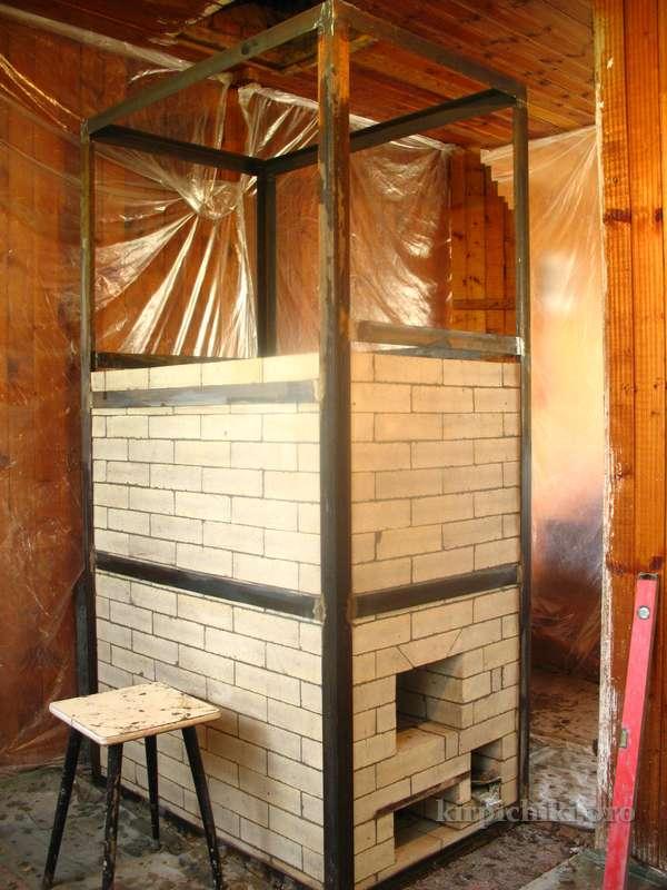 Печь в каркасном доме своими руками фото 97