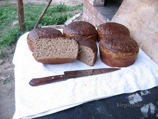 Ржаной хлеб на закваске из русской печи.