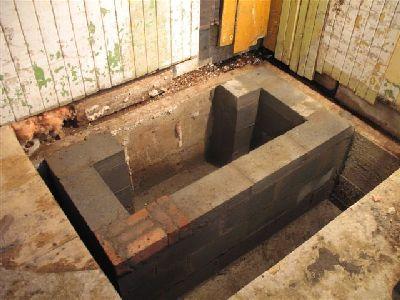 Фундамент дровяной плиты.