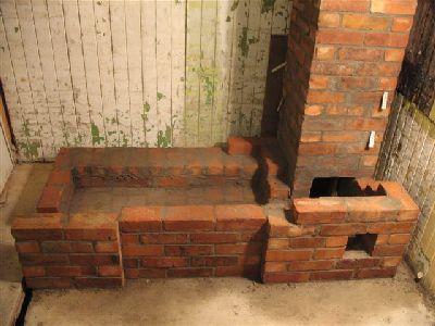 Печь дровяная с варочной плитой.