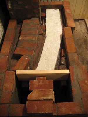 Варочная плита на дровах, нижний газоход.