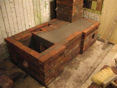 Варочная дровяная плита, нижняя часть.