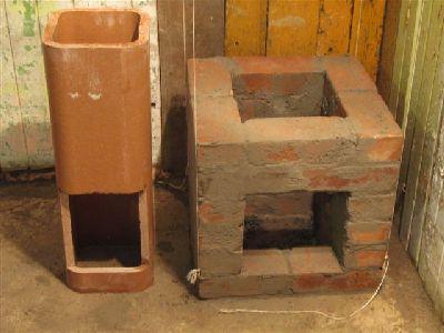 Дымовая труба дровяной плиты.