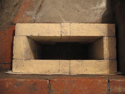 Опускной канал дровяной плиты.