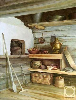 Русская печь в доме.