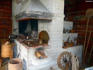 Финская печь, кронштейн для котелка.