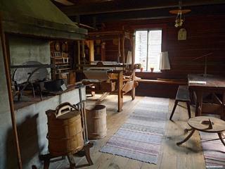 Финский дом с печью.