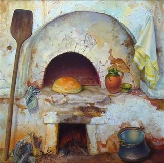 Печь, хлебная лопата.