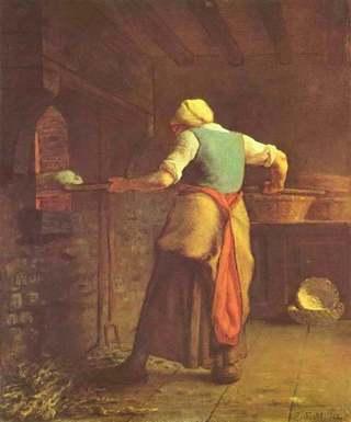 Жан Франсуа Милле - Женщина, пекущая хлеб.