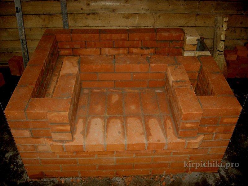 """Печь-камин """"Крепостная башня"""" Печь с камином kirpichiki.PRO"""